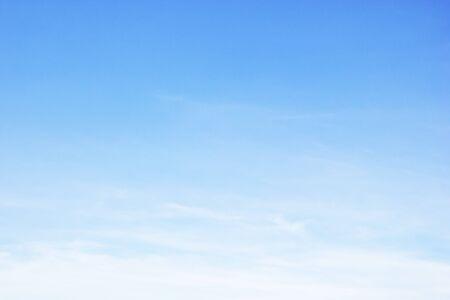 Foto de Fantastic soft white clouds against blue sky and copy space - Imagen libre de derechos