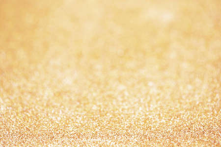 Photo for Gold sparkle glitter and copy space for Christmas background. - Royalty Free Image