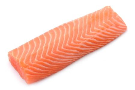 Foto de Raw Salmon Filet Isolated On White - Imagen libre de derechos