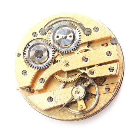 Photo pour Top View Of A Mechanical Clockwork - image libre de droit