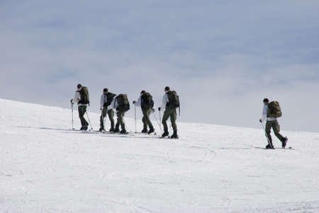 military group in the mountain