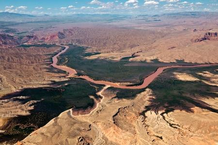 Aerial view of the Colorado River