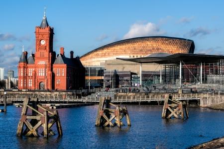 Pierhead and Millenium Centre buildings Cardiff Bay