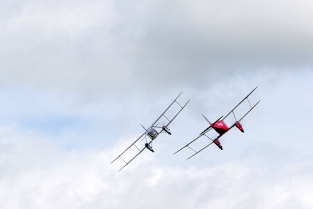 De Havilland DH90 Dragonfly and Dragon Rapide at Shoreham airshow