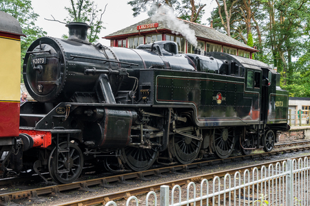 42073 BR Fairburn, at Lakeside Station Windermere