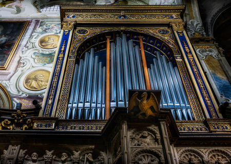 Organ in the Cathedral (duomo) in Monza