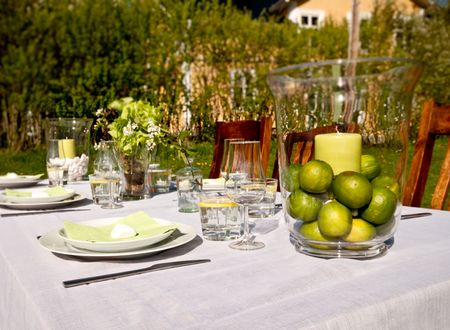 Nice Table setting outdoors