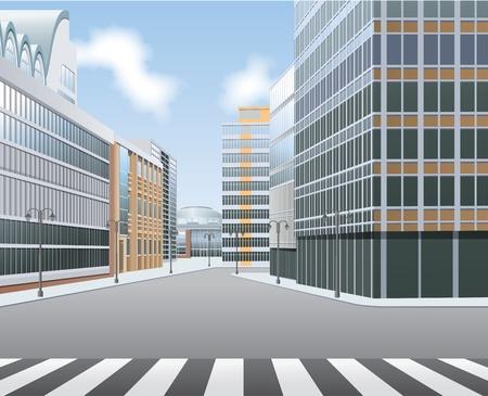 City high street, town centre