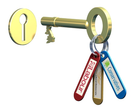Keys to government, 3 political party on a key ring