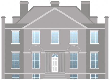 Big country house, family home vector