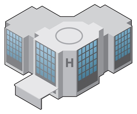 Hospital icon, medical icon vector