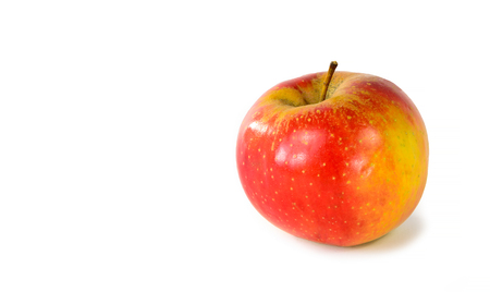 Photo pour Red and yellow apple on a white  - image libre de droit
