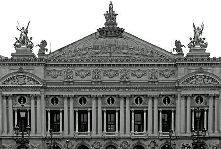 The facade of the Opera House (Palais Garnier), Paris, France