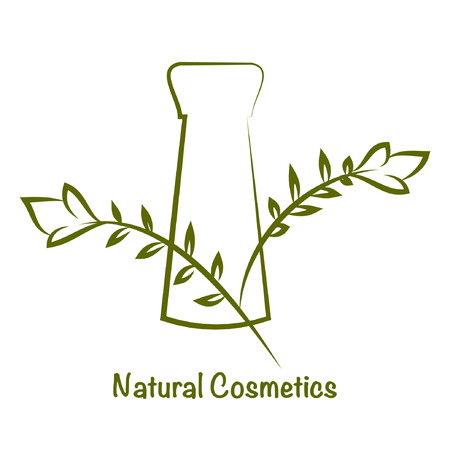 Vector bottle for cosmetics, template for cosmetic brand