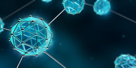 Photo pour Nanotechnology Atom and Molecule - Abstract background - image libre de droit