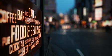 Photo pour LED Display - Food and Beverage signage - image libre de droit