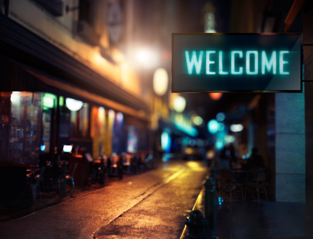 Photo for LED Display - Welcome signage - Royalty Free Image