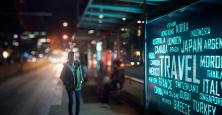 Foto de LED Display - Travel signage - Imagen libre de derechos