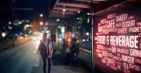 Foto de LED Display - Food and Beverage signage - Imagen libre de derechos
