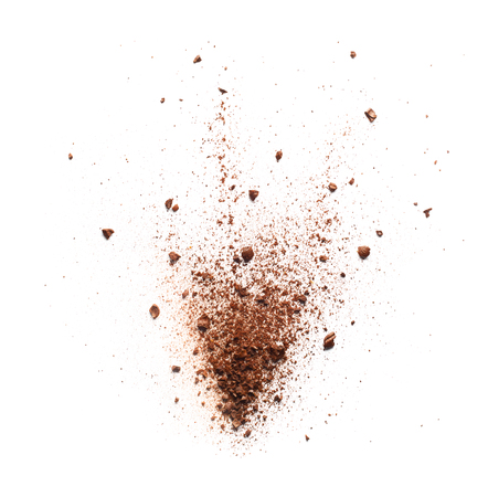 Photo for Coffee powder burst over white background - Royalty Free Image