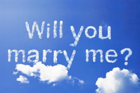 will you marry me cloud word
