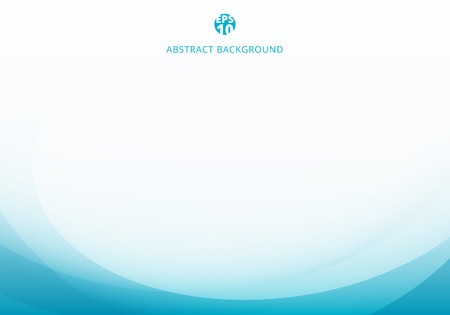 Illustration pour Abstract elegant blue light curve template on white background with copy space. Vector illustration - image libre de droit