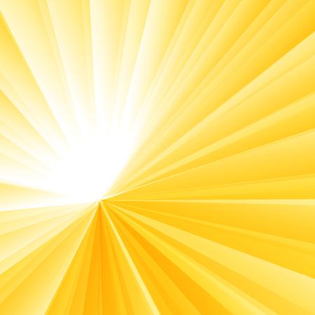 Illustration for Abstract light burst yellow radial gradient background. Sunburst rays pattern. Vector illustration - Royalty Free Image