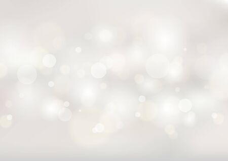 Illustration for Abstract soft white blurred background with bokeh lights. Vector illustration - Royalty Free Image