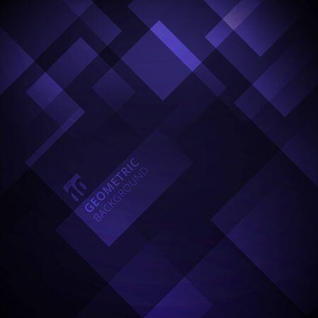 Illustration pour Abstract purple gradient color geometric square overlay modern background design. Vector illustration - image libre de droit