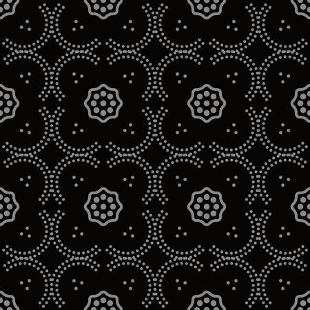 Illustration pour Antique seamless background Curve Dot Line Frame Flower, Ideal for wallpaper decoration or greeting card design template. - image libre de droit