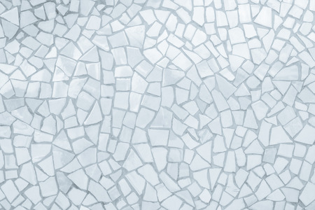 Foto de Broken tiles mosaic seamless pattern. White and Grey the tile wall high resolution real photo or brick seamless and texture interior background. - Imagen libre de derechos
