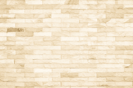 Foto de Cream colors and white brick wall art concrete or stone texture background in wallpaper limestone abstract paint to flooring and homework/Brickwork or stonework clean grid uneven interior rock old. - Imagen libre de derechos