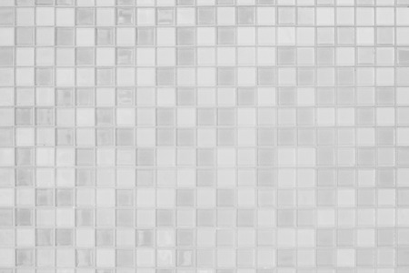 Photo pour White or gray ceramic wall and floor tiles abstract background. Design geometric mosaic texture for the decoration of the bedroom. Simple seamless pattern for backdrop advertising banner poster or web - image libre de droit