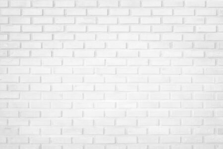 Photo for Wall white brick wall texture background in room at subway. Brickwork stonework interior, rock old clean concrete grid uneven abstract weathered bricks tile design, horizontal architecture wallpaper. - Royalty Free Image