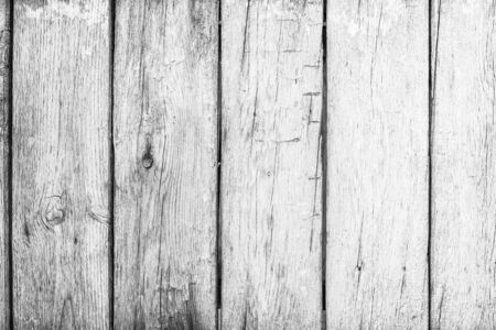 Photo pour Old grunge wood plank texture background. Vintage white wooden board wall have antique cracking style background objects for furniture design. Painted weathered peeling table woodworking hardwoods. - image libre de droit
