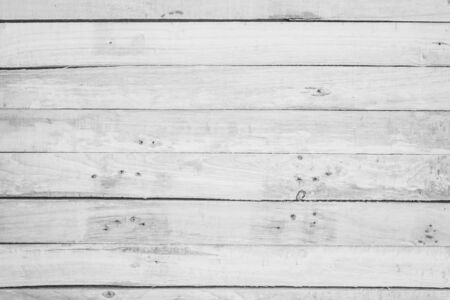 Photo pour Wood plank white timber texture background. Old wooden wall all have antique cracking furniture painted weathered peeling wallpaper . Vintage table plywood woodwork hardwoods at summer for copy space. - image libre de droit