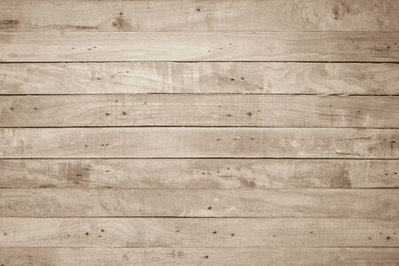 Photo pour Brown Wood texture background. Wood planks old of table top view and board wooden nature pattern are grain hardwood panel floor. Design timber vintage wall textured material for banner copy space. - image libre de droit