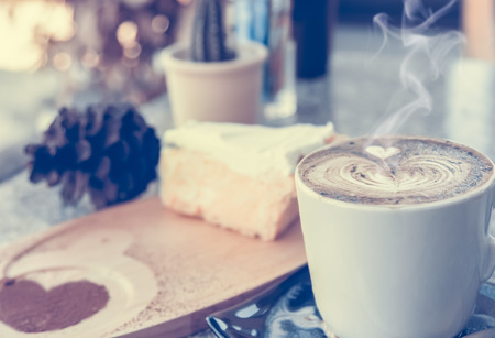 cup of coffee in the morning,selective focus,vintage toning