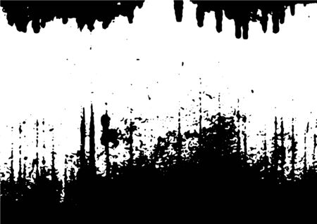 Illustration for Black and white grunge. Distress overlay texture. Abstract surface dust and rough dirty wall background concept. Distress illustration simply place over object to create grunge effect - Royalty Free Image