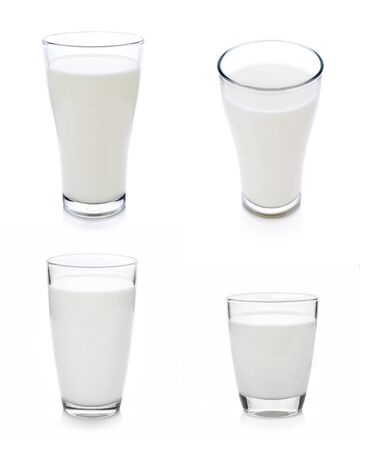 Photo for glass of milk isolated on white with clipping path included - Royalty Free Image