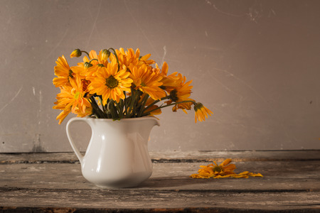 still life vase with flowers background