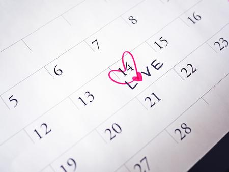 Valentines day on carlendar