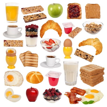 Collection of various types of breakfast