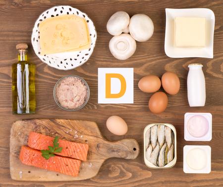 Photo pour Vitamin D containing foods - image libre de droit