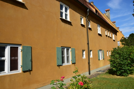 Augsburg, Germany - The historical FUGGEREI - the first social housing district of the 16th century