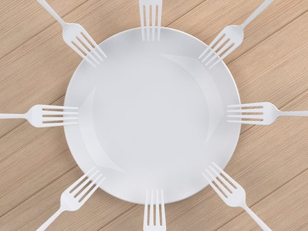 Using multiple dip fork into the dish
