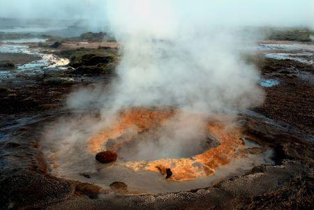 Active geysir on Iceland