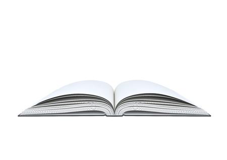 Foto de Open blank book on white background. - Imagen libre de derechos