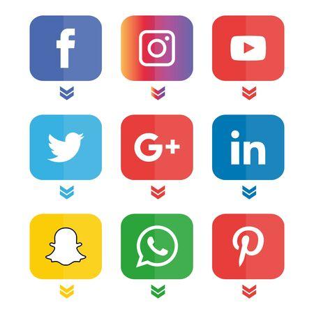 Photo pour Social media icons set Logo - image libre de droit