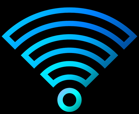 Wifi symbol icon - colorful outlined gradient, isolated - vector illustration